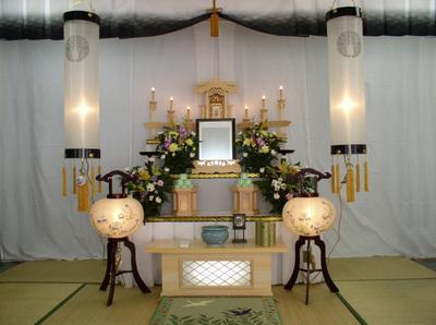 初盆祭壇 松鶴セット